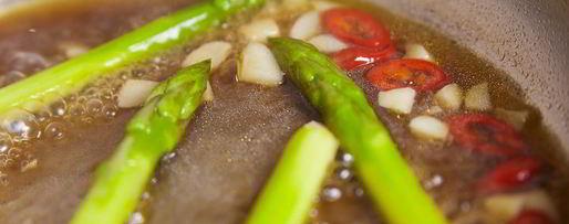 Шаг 9: стейка из лосося с овощами